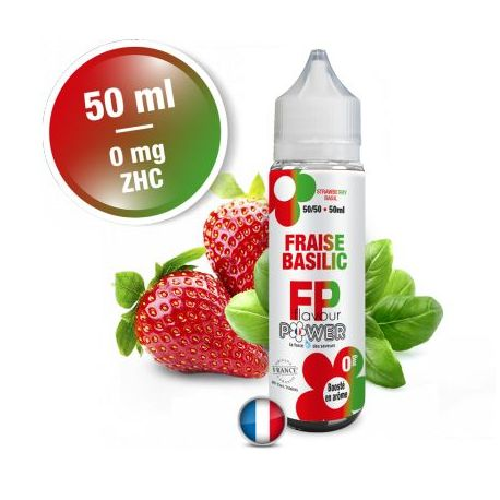 FRAISE BASILIC 50/50 50ML 0MG FLAVOUR POWER